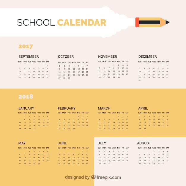 Simple school calendar 2017