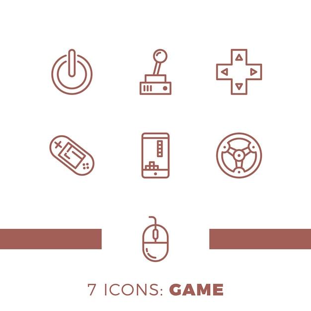 Простой набор игр Premium векторы