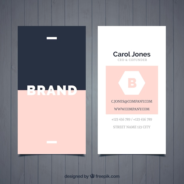 Simple stylish business card Free Vector