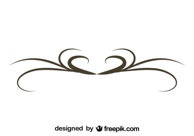Simple Swirl Graphic Element Retro Design Vector | Free Download