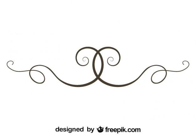 Simple Swirl Text Divider Vector Element Vector | Free ...