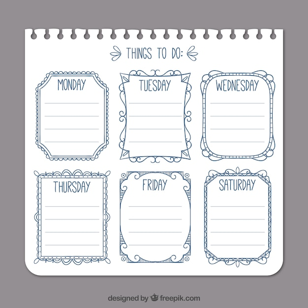 simple to do list template free vector