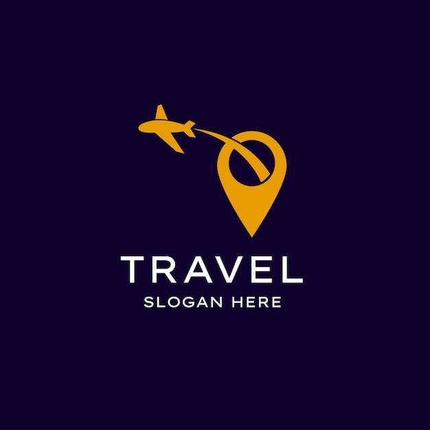 Simple travel logo Premium Vector