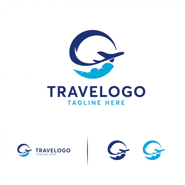 Simple travel logo Premium Vector