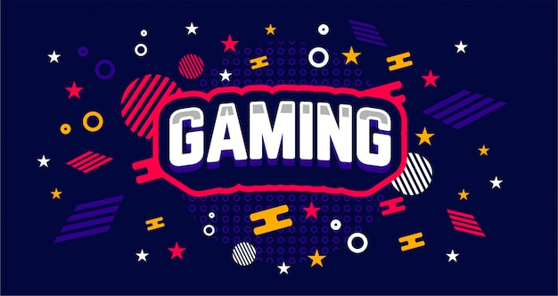 Simple and unique gaming banner template Premium Vector