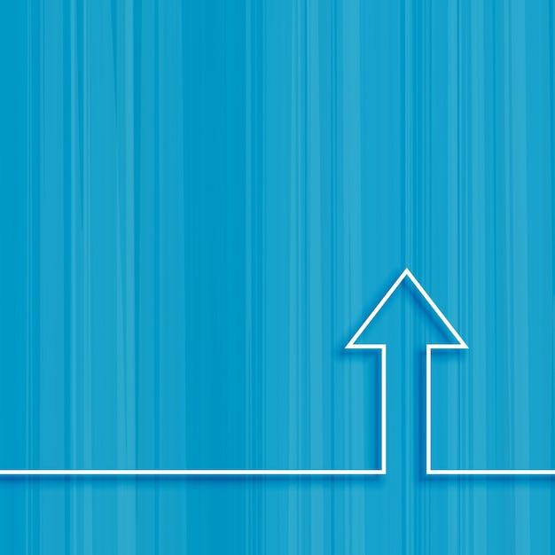 Simple upward arrow design Free Vector