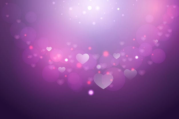 Simple valentine's day background Free Vector
