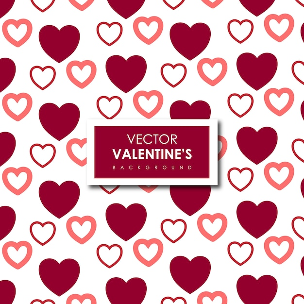 Simple valentine's hearts background Free Vector