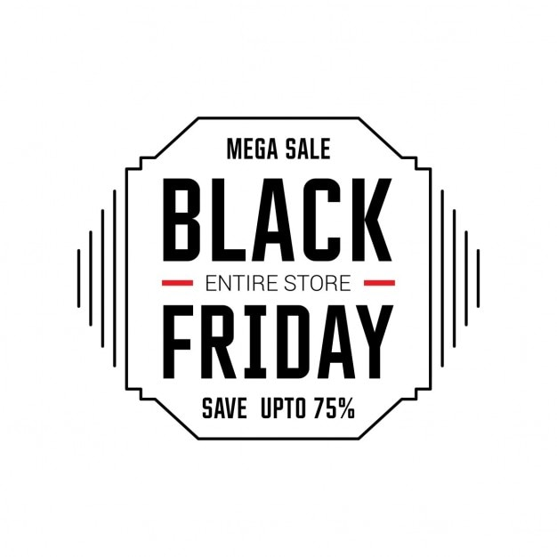 Simple White Background For Black Friday Vector
