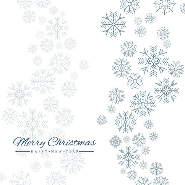 simple white background with snowflakes free vector