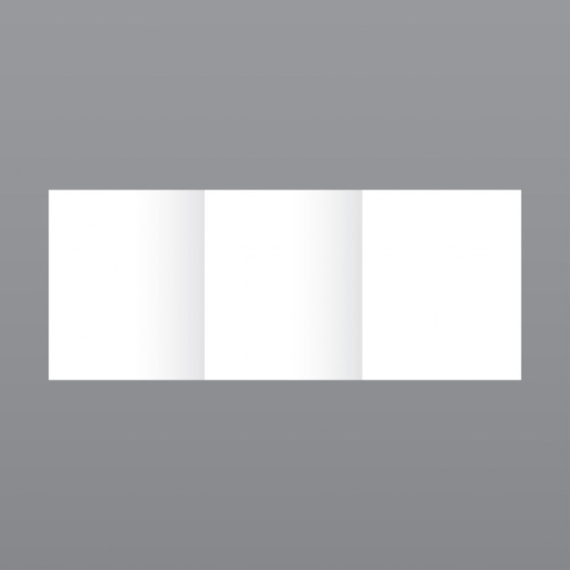 Semplice modello di brochure bianco su sfondo grigio Vettore gratuito