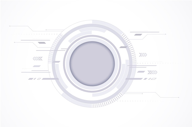 Simple white technology background Free Vector