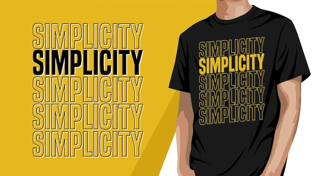 Simplicity typography t shirt design for print Premium Vector