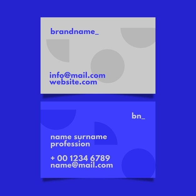 Simplistic business card template Free Vector