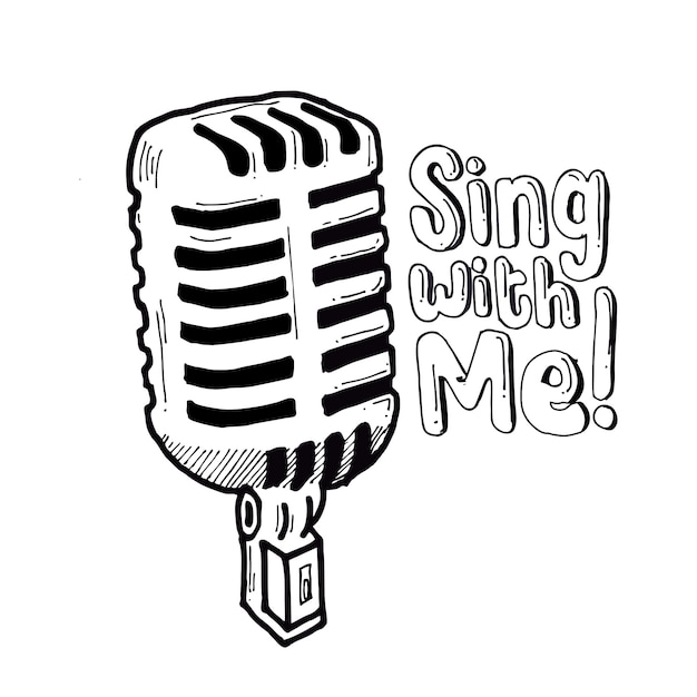 Sing with me Premium Vector