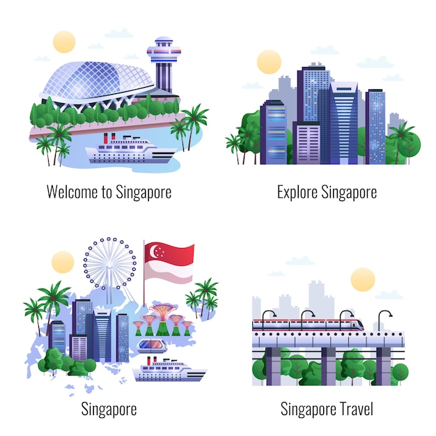 Singapore 2x2 Free Vector