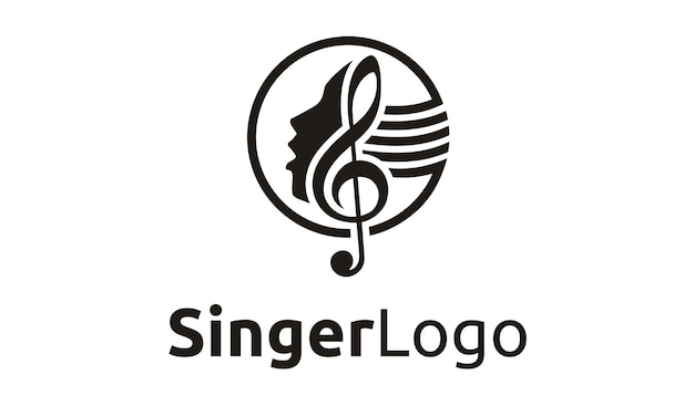 Singer / choir logo design Premium Vector