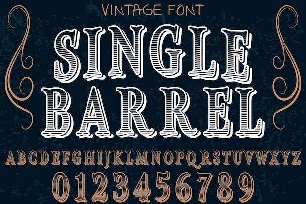 Single barrel alphabelabel design Premium Vector