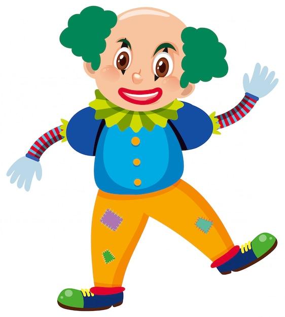 Единственный персонаж клоуна Premium векторы