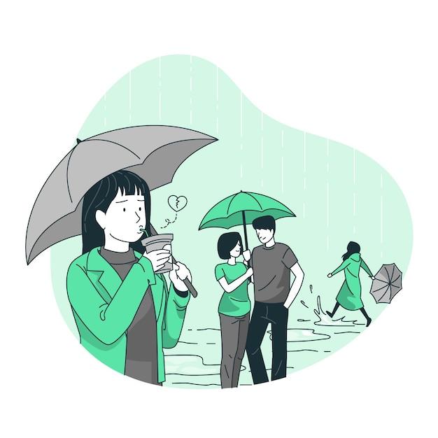 Singles concept illustration Free Vector