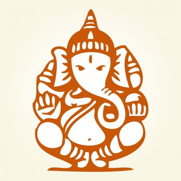 Sitting Ganesha Drawing Vector | Free Download