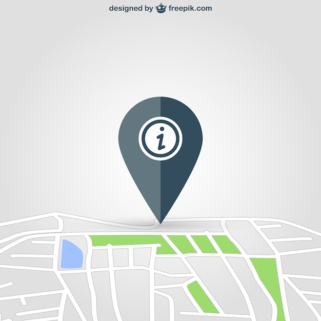Situation pin on map Premium Vector