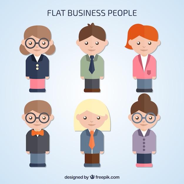 Six business people