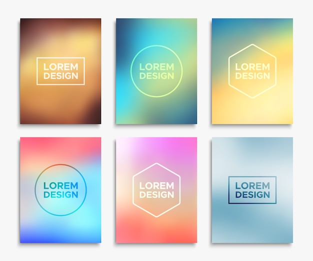 Six colorful templates Vector | Free Download