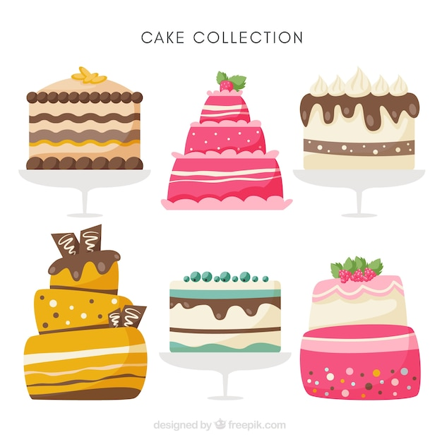 Stupendous Six Different Birthday Cakes Stock Images Page Everypixel Funny Birthday Cards Online Alyptdamsfinfo