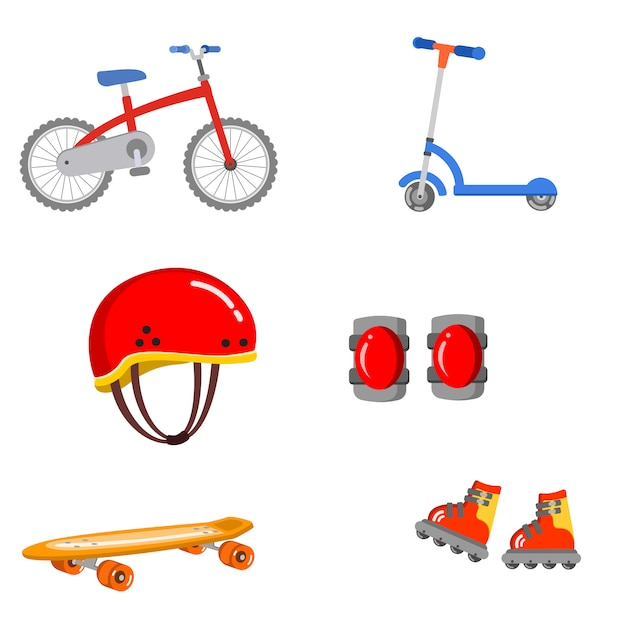 Skate safety protect health guard ride vector illustration preschool Premium Vector