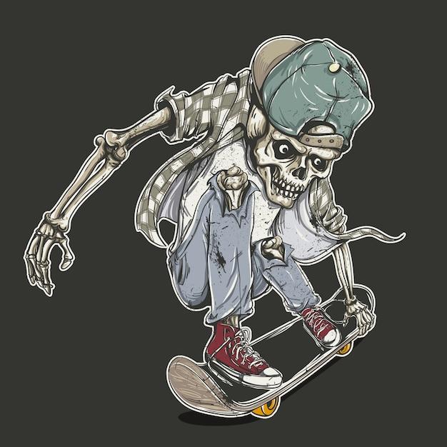 Skateboard skeleton background