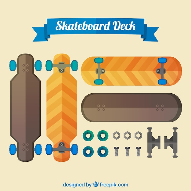 Skateboards and gears
