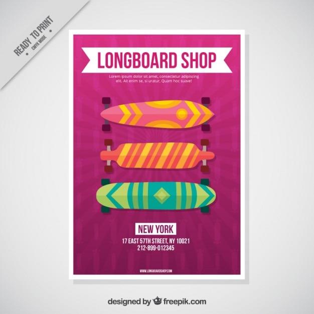 Skateboards flyer template