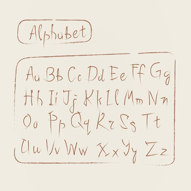 Download Sketch alphabet letters collection text font set Vector ...