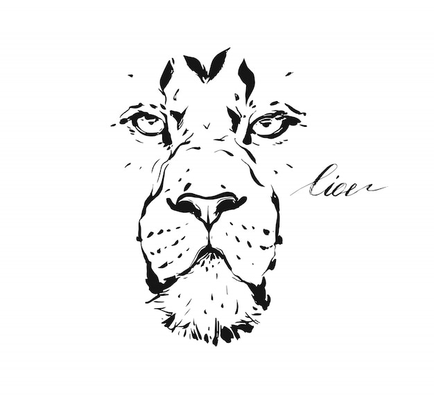 Premium Vector Sketch Drawing Illustration Of Wildlife Lion Head Isolated On White Background Lion face outline drawing at getdrawings free lion face silhouette, download free clip art, free clip art on clipart library lions head profile black outline stock illustration https www freepik com profile preagreement getstarted 9791822