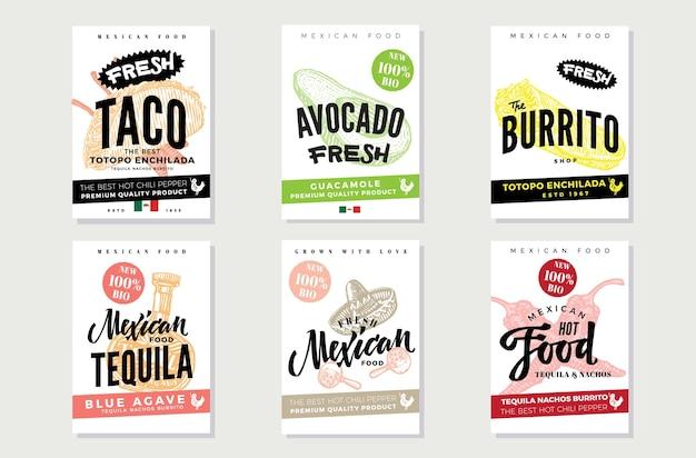 Эскиз флаера мексиканской кухни Бесплатные векторы
