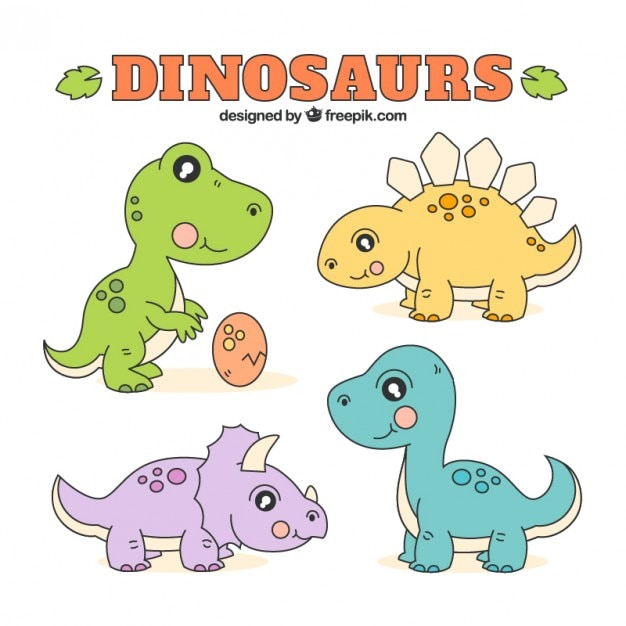 sketches babies dinosaurs vector free download