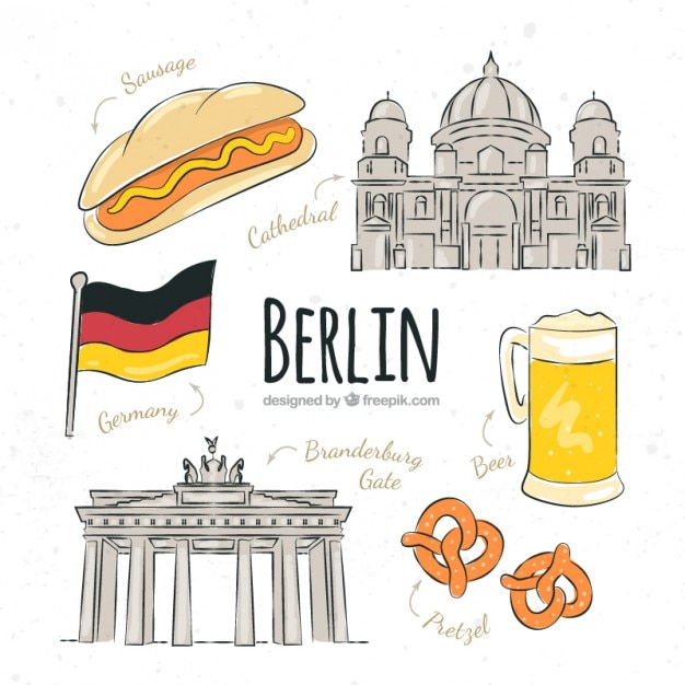 sketches berlin typical things vector free download