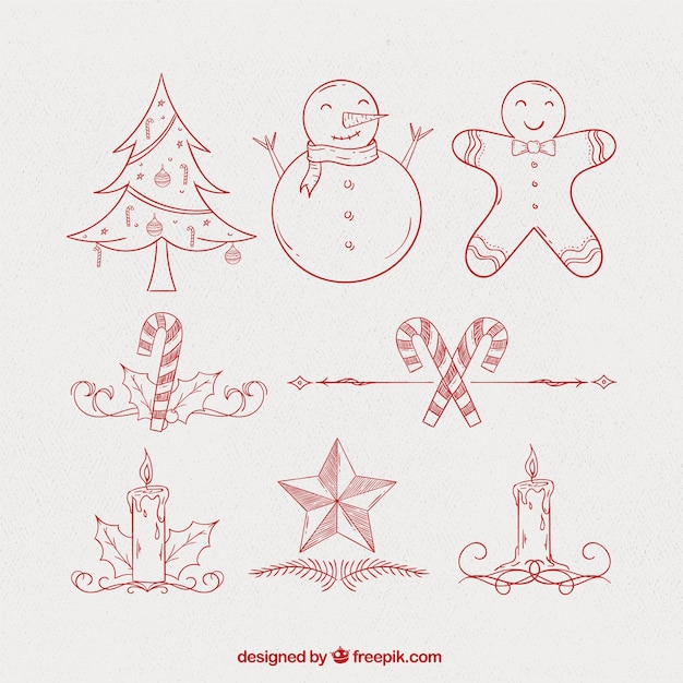 Drawings Of Christmas Ornaments.Sketches Of Christmas Ornaments Vector Free Download