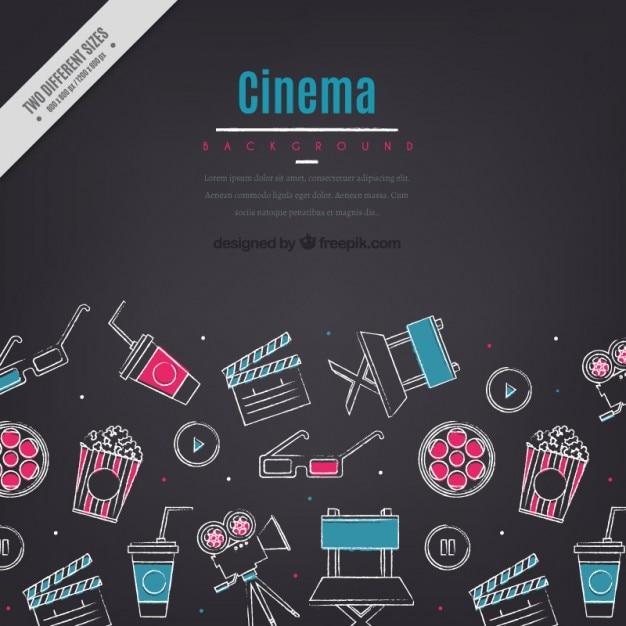 وقت خود را صرف سینما عناصر پس زمینه