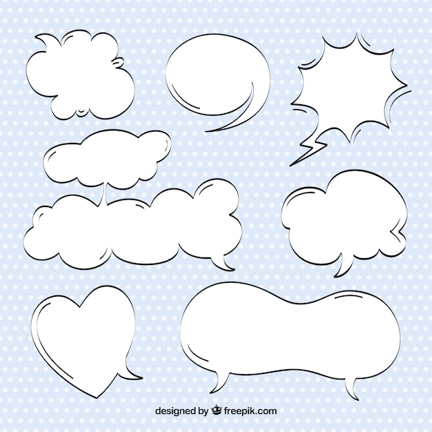 Sketches comic speech bubbles