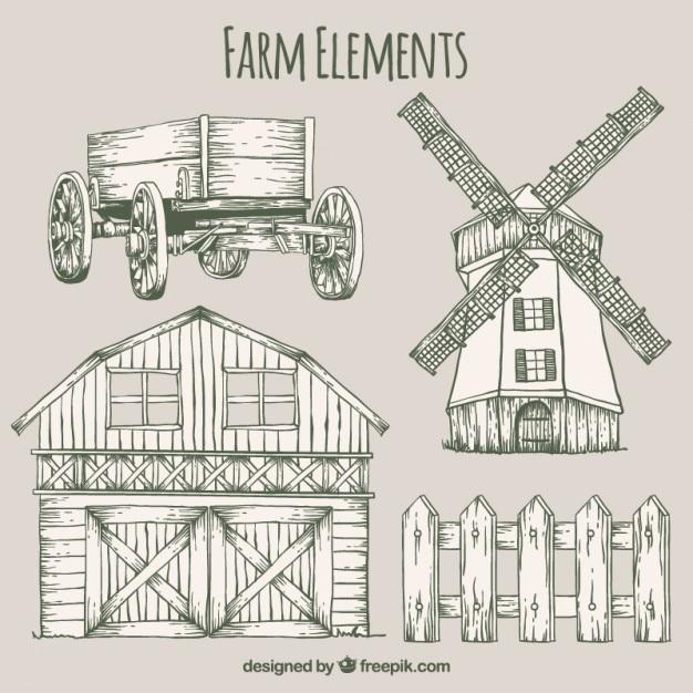 Farm Barn Drawing barn vectors, photos and psd files | free download