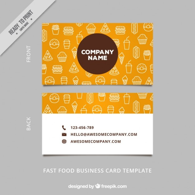 Sketches food business card vector premium download sketches food business card premium vector cheaphphosting