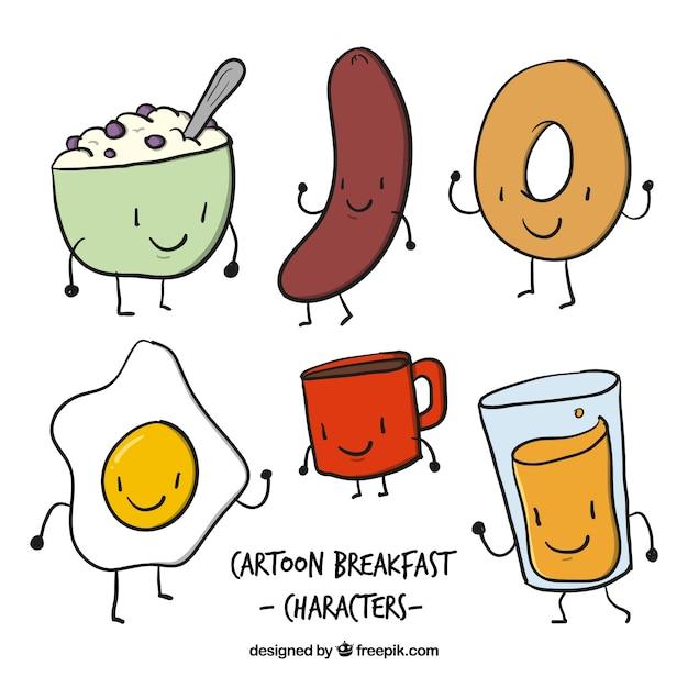 طرح شخصیت های خوب مواد غذایی برای صبحانه