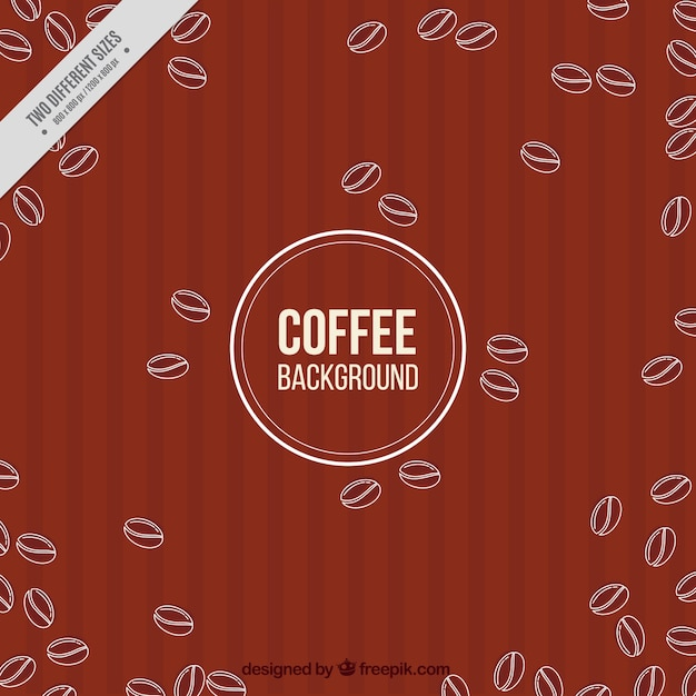 Sketches of coffee beans retro\ background