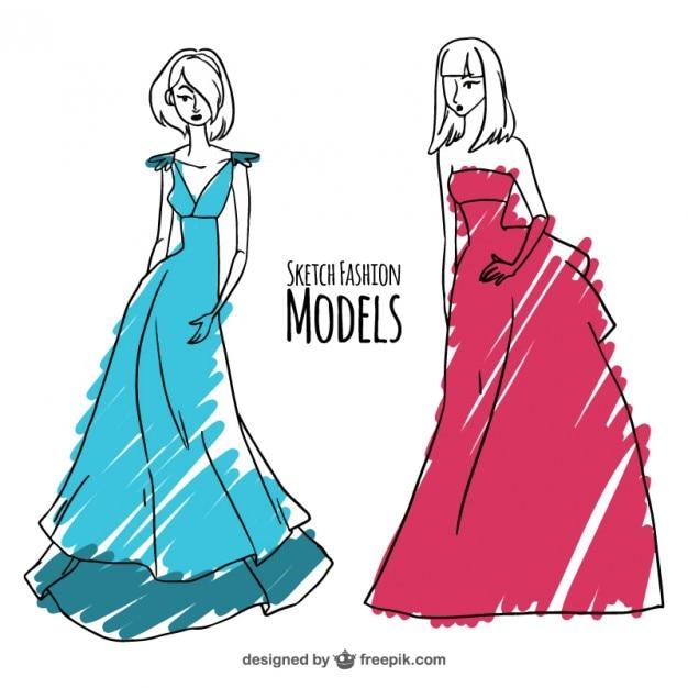 طرح نقاشی با نشانگر مد و مدل