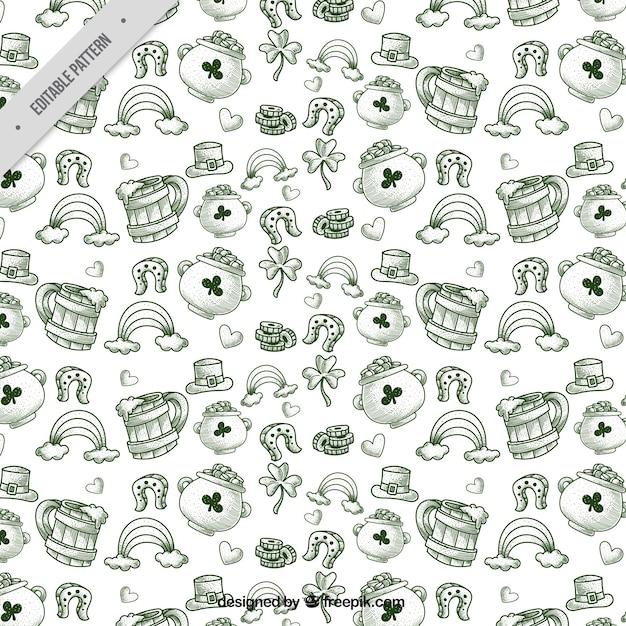 Sketches of saint patrick pattern