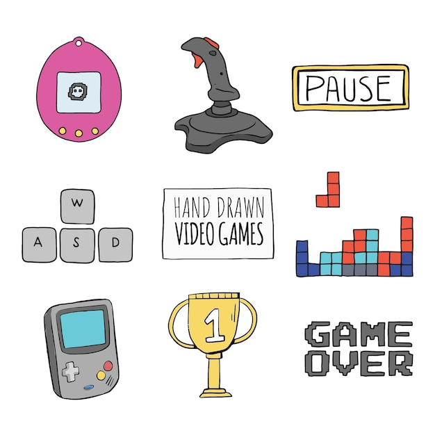 Sketches of video game elements vector free download sketches of video game elements free vector ccuart Gallery