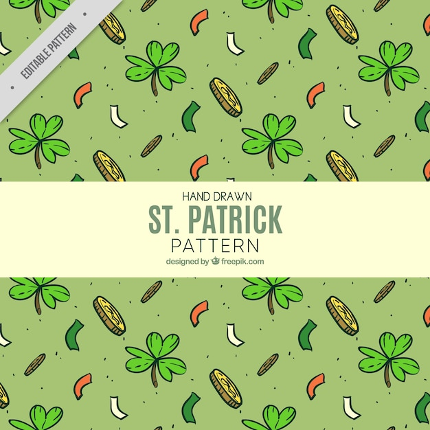 Sketches pattern of saint patrick elements