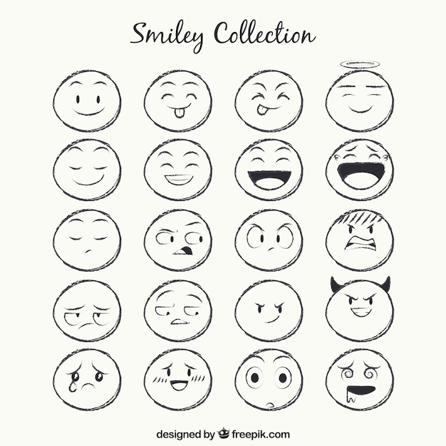Sketches smiley collection